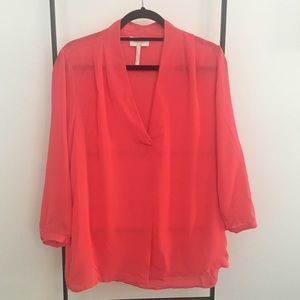 Coral Long Sleeve Blouse- NWT
